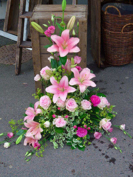 blommor begravning text